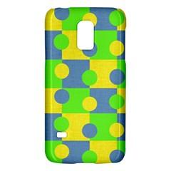 Abric Cotton Bright Blue Lime Galaxy S5 Mini
