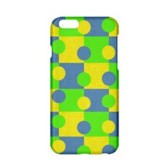 Abric Cotton Bright Blue Lime Apple iPhone 6/6S Hardshell Case