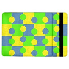 Abric Cotton Bright Blue Lime iPad Air 2 Flip