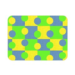 Abric Cotton Bright Blue Lime Double Sided Flano Blanket (Mini)