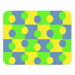 Abric Cotton Bright Blue Lime Double Sided Flano Blanket (Large)