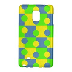 Abric Cotton Bright Blue Lime Galaxy Note Edge