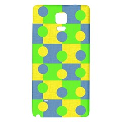 Abric Cotton Bright Blue Lime Galaxy Note 4 Back Case