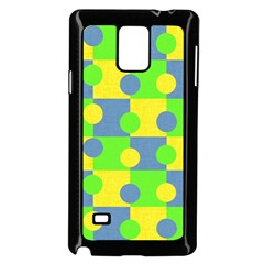Abric Cotton Bright Blue Lime Samsung Galaxy Note 4 Case (black)