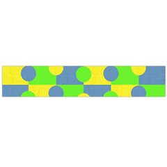 Abric Cotton Bright Blue Lime Flano Scarf (Large)