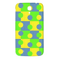 Abric Cotton Bright Blue Lime Samsung Galaxy Mega I9200 Hardshell Back Case