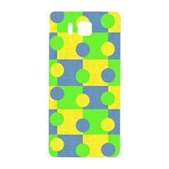 Abric Cotton Bright Blue Lime Samsung Galaxy Alpha Hardshell Back Case