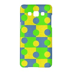 Abric Cotton Bright Blue Lime Samsung Galaxy A5 Hardshell Case