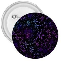 Retro Flower Pattern Design Batik 3  Buttons