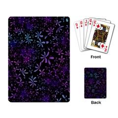 Retro Flower Pattern Design Batik Playing Card