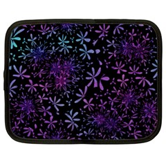 Retro Flower Pattern Design Batik Netbook Case (XL)