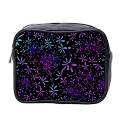 Retro Flower Pattern Design Batik Mini Toiletries Bag 2 Side