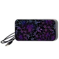 Retro Flower Pattern Design Batik Portable Speaker (black)