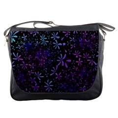 Retro Flower Pattern Design Batik Messenger Bags