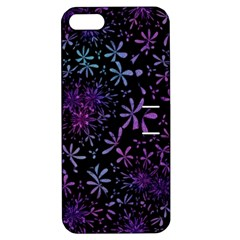 Retro Flower Pattern Design Batik Apple iPhone 5 Hardshell Case with Stand