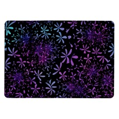 Retro Flower Pattern Design Batik Samsung Galaxy Tab 10.1  P7500 Flip Case