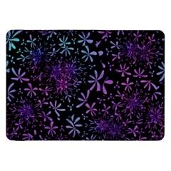 Retro Flower Pattern Design Batik Samsung Galaxy Tab 8.9  P7300 Flip Case