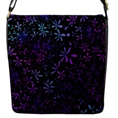 Retro Flower Pattern Design Batik Flap Messenger Bag (S)