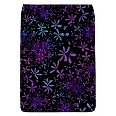 Retro Flower Pattern Design Batik Flap Covers (S)