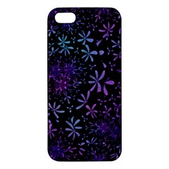 Retro Flower Pattern Design Batik iPhone 5S/ SE Premium Hardshell Case