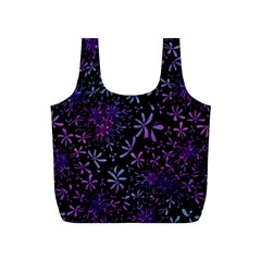Retro Flower Pattern Design Batik Full Print Recycle Bags (S)