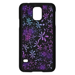 Retro Flower Pattern Design Batik Samsung Galaxy S5 Case (Black)