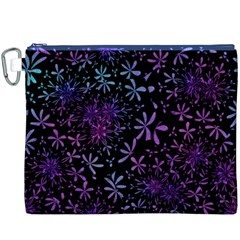 Retro Flower Pattern Design Batik Canvas Cosmetic Bag (XXXL)