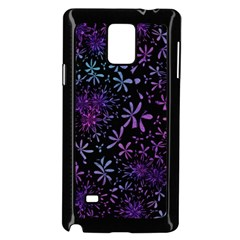 Retro Flower Pattern Design Batik Samsung Galaxy Note 4 Case (Black)