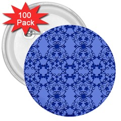 Floral Ornament Baby Boy Design Retro Pattern 3  Buttons (100 Pack)