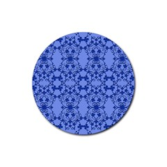 Floral Ornament Baby Boy Design Retro Pattern Rubber Coaster (round)