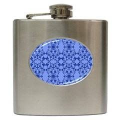 Floral Ornament Baby Boy Design Retro Pattern Hip Flask (6 oz)