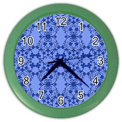 Floral Ornament Baby Boy Design Retro Pattern Color Wall Clocks