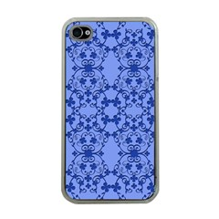 Floral Ornament Baby Boy Design Retro Pattern Apple iPhone 4 Case (Clear)