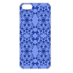 Floral Ornament Baby Boy Design Retro Pattern Apple iPhone 5 Seamless Case (White)