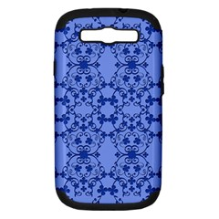 Floral Ornament Baby Boy Design Retro Pattern Samsung Galaxy S III Hardshell Case (PC+Silicone)