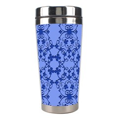 Floral Ornament Baby Boy Design Retro Pattern Stainless Steel Travel Tumblers