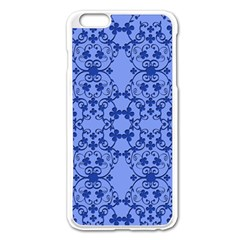 Floral Ornament Baby Boy Design Retro Pattern Apple iPhone 6 Plus/6S Plus Enamel White Case