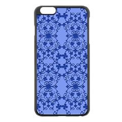 Floral Ornament Baby Boy Design Retro Pattern Apple iPhone 6 Plus/6S Plus Black Enamel Case