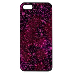 Retro Flower Pattern Design Batik Apple Iphone 5 Seamless Case (black)