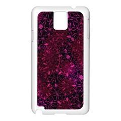 Retro Flower Pattern Design Batik Samsung Galaxy Note 3 N9005 Case (White)