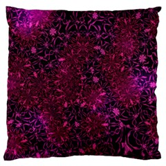 Retro Flower Pattern Design Batik Large Flano Cushion Case (Two Sides)