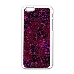 Retro Flower Pattern Design Batik Apple Iphone 6/6s White Enamel Case