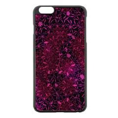 Retro Flower Pattern Design Batik Apple iPhone 6 Plus/6S Plus Black Enamel Case