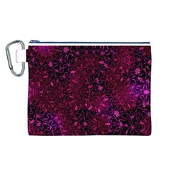 Retro Flower Pattern Design Batik Canvas Cosmetic Bag (L)