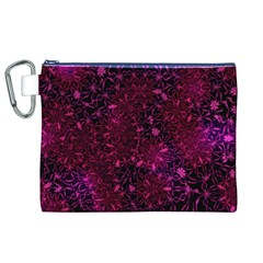Retro Flower Pattern Design Batik Canvas Cosmetic Bag (XL)