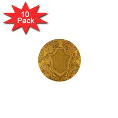Vintage Scrapbook Old Ancient Retro Pattern 1  Mini Buttons (10 Pack)