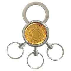 Vintage Scrapbook Old Ancient Retro Pattern 3 Ring Key Chains