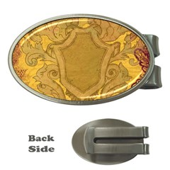 Vintage Scrapbook Old Ancient Retro Pattern Money Clips (Oval)