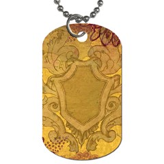 Vintage Scrapbook Old Ancient Retro Pattern Dog Tag (Two Sides)