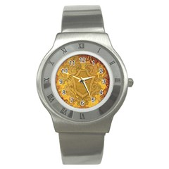 Vintage Scrapbook Old Ancient Retro Pattern Stainless Steel Watch